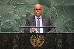 General Assembly Seventy-third session, 14th plenary meeting<br /> <br /> <br /> His Excellency Peter DAVID Minister for Foreign Affairs and Labour of Grenada