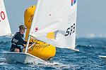 Uros Krasevac from Slovenia(left) and  Luka Tosic from Serbia (right) in action during the ISAF Sailing World Championships 2014 at the Real Club Maritimo of Santander on September 12, 2014 in Santander, Spain. Photo by Nacho Cubero / Power Sport Images