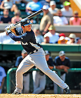 11 March 2009: New York Yankees' catcher Austin Romine in action during a Spring Training game against the Detroit Tigers at Joker Marchant Stadium in Lakeland, Florida. The Tigers defeated the Yankees 7-4 in the Grapefruit League matchup. Mandatory Photo Credit: Ed Wolfstein Photo