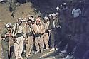 Iraq 1983 <br /> July in Haj Omran, 6th from left Mullazem Ali and peshmergas   <br /> Irak 1983  <br /> Juillet a Haj Omran,6 eme a gauche Mullazem Ali avec des peshmergas.