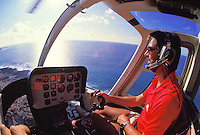 EDITORIAL ONLY. Helicopter pilot, Big Island of Hawaii