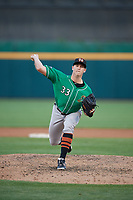 Norfolk Tides relief pitcher Evan Phillips (33) during an International League game against the Buffalo Bisons on June 22, 2019 at Sahlen Field in Buffalo, New York.  Buffalo defeated Norfolk 3-0.  (Mike Janes/Four Seam Images)
