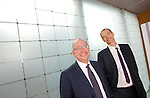 """(l-r)  Steven Bell, Chief Economist at GLC and Lawrence Staden, Managing Director of GLC, a UK based independent fund management company based in the Soho district of London. Together they host radio programmes discussing the financial industry as """" Loz 'n"""" Belly """""""