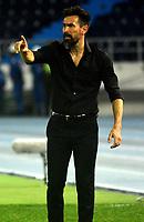 BARRANQUILLA - COLOMBIA, 26-09-2018: Eduardo Domínguez, técnico de Colón (ARG),durante partido de vuelta entre Atlético Junior (COL) y Club Atletico Colon (ARG), de los octavos de final llave D por la Copa Sudamericana en el estadio Metropolitano Roberto Meléndez de la ciudad de Barranquilla.  / Eduardo Dominguez, coach of Colon (ARG), during a match between Atletico Junior (COL) and Club Atletico Colon (ARG), of the first leg of the knockout key D for the Sudamericana Cup at the Metropolitano Roberto Melendez stadium in the city of Barranquilla. Photo: VizzorImage / Alfonso Cervantes / Cont.