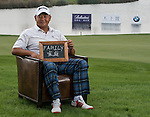 """Ming-Jie Huang was asked by Ballantine's at the BMW Masters to describe how he stays true to himself; his answer is shown. Ballantine's, who recently announced their new global marketing campaign, """"Stay True, Leave An Impression"""", is a sponsor at the BMW Masters, which takes place from the 24-27 October at Lake Malaren Golf Club in Shanghai.  Photo by Andy Jones / The Power of Sport Images for Ballantines."""