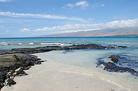 A sunny day at a beach in Puako, South Kohala, Big Island of Hawai'i.
