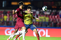 SAO PAULO – BRASIL, 19-06-2019:James Rodríguez de Colombia en acción durante partido de la Copa América Brasil 2019, grupo B, entre Colombia y Catar jugado en el Estadio Morumbí de Sao Paulo, Brasil. / James Rodriguez of Colombia in action during the Copa America Brazil 2019 group B match between Colombia and Qatar played at Morumbi stadium in Sao Paulo, Brazil. Photos: VizzorImage / Julian Medina / Contribuidor