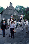 Castleton Garland day, Castleton Derbyshire UK May 31st. Oak Apple Day King and Queen. 1980s.