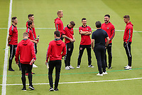 Fleetwood Town players arriving for the 2018/19 Pre Season Friendly match between Tranmere Rovers and Fleetwood Town at Prenton Park, Birkenhead, England on 21 July 2018. Photo by David Horn.