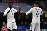 Paul Pogba and Raphael Varane of France during the Uefa Nations League final match between Spain and France at San Siro stadium in Milano (Italy), October 10th, 2021. Photo Andrea Staccioli / Insidefoto