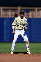 Vanderbilt Commodores infielder Dansby Swanson (7) during a game against the Indiana State Sycamores on February 21, 2015 at Charlotte Sports Park in Port Charlotte, Florida.  Indiana State defeated Vanderbilt 8-1.  (Mike Janes/Four Seam Images)