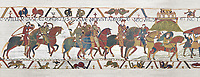 Bayeux Tapestry  Scene 16 - Williams asks Harold to joint him in war against Conan Duke of Britany.