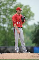 Harrisburg Senators pitcher Tyler Herron (26) during the game against the Trenton Thunder at ARM & HAMMER Park on May 21, 2014 in Trenton, New Jersey.  Harrisburg defeated Trenton 9-0.  (Tomasso DeRosa/Four Seam Images)