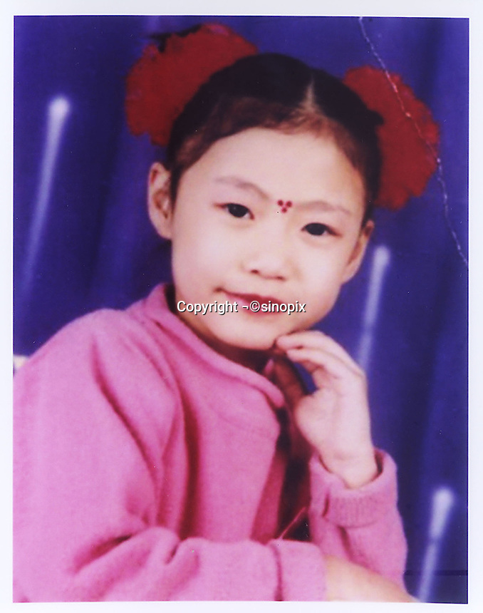 Wang Yuan (8), born in 1996. Missing in Lao Gongsuo Lane/Alley of Yang Liuqing in Tianjin on 19 July 2004.   Girls in China are increasingly targeted and stolen as there is a shortage of wives as the gender imbalance widens with 120 boys for every 100 girls...PHOTO BY SINOPIX