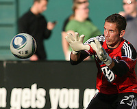 Troy Perkins #23 of D.C.United during an MLS match against the Kansas City Wizards at RFK Stadium on May 5 2010, in Washington DC. United won 2-1