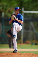 Blake Mayfield during the WWBA World Championship at the Roger Dean Complex on October 19, 2018 in Jupiter, Florida.  Blake Mayfield is a right handed pitcher from Flower Mound, Texas who attends Marcus High School and is committed to Texas A&M.  (Mike Janes/Four Seam Images)