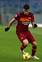 Football, Serie A: AS Roma -  FC Internazionale Milano, Olympic stadium, Rome, January 10, 2021. <br /> Roma's Roger Ibanez in action during the Italian Serie A football match between Roma and Inter at Rome's Olympic stadium, on January 10, 2021.  <br /> UPDATE IMAGES PRESS/Isabella Bonotto