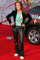 """HOLLYWOOD, LOS ANGELES, CA, USA - MARCH 11: Angie Everhart at the World Premiere Of Disney's """"Muppets Most Wanted"""" held at the El Capitan Theatre on March 11, 2014 in Hollywood, Los Angeles, California, United States. (Photo by Xavier Collin/Celebrity Monitor)"""