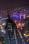 SHANGHAI, CHINA - SEPTEMBER 20: Night view of the Shanghai, China skyline.