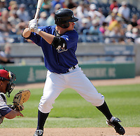 August 2, 2009:  Billy Nowlin of the West Michigan Whitecaps during a game at Fifth Third Ballpark in Comstock Park, FL.  The White Caps are the Low-A affiliate of the Detroit Tigers.  Photo By Emily Jones/Four Seam Images