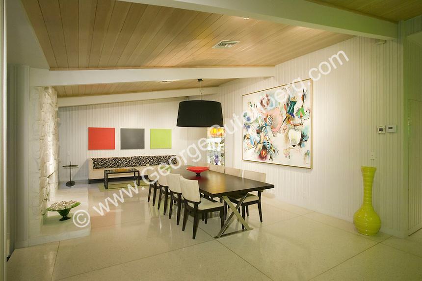 Stock photo of mid-century modern dining room