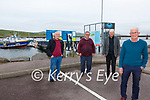 Portmagee delighted to have retained their Blue Flag status for their Seasonal Pontoons, pictured here l-r; John Murphy(Chairman Portmagee Development Group), Pat Joe Murphy(Boat Operator), Mike Joe O'Connell(Boat Operator) & Gerard Kennedy(Pontoon Caretaker).