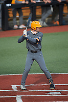 Jake Rucker (7) of the Tennessee Volunteers at bat against the Charlotte 49ers at Hayes Stadium on March 9, 2021 in Charlotte, North Carolina. The 49ers defeated the Volunteers 9-0. (Brian Westerholt/Four Seam Images)