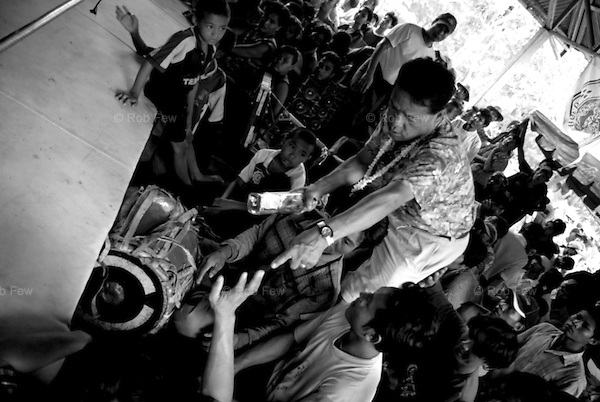 The atmosphere is tense. Most of the spectators are drunk, and fights start easily, even in the crowd.<br /> <br /> Every Thai New Year, Burmese fighters cross the border into the Northern Thai town of Mae Sot to take on their Thai counterparts in a brutal, no-holds barred competition that lasts a week.
