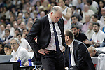 Real Madrid's coach Pablo Laso during Liga Endesa ACB match.Apri 12,2015. (ALTERPHOTOS/Acero)