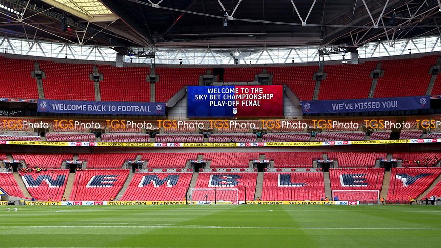 General view of Wembley ahead of kick-off during Brentford vs Swansea City, Sky Bet EFL Championship Play-Off Final Football at Wembley Stadium on 29th May 2021