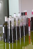 Wine tasting. Bottles and decanters. Henrque HM Uva, Herdade da Mingorra, Alentejo, Portugal