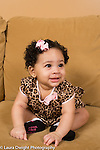 5 month old baby girl sitting