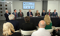 British Prime Minister Theresa May Swansea Bay City Region deal, at the Liberty Stadium, Swansea, Wales, UK. Monday 20 March 2017.