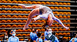 February 19, 2021: North Carolina's Jamie Shearer competes on the beam during the 2nd Annual George McGinty Alumni Meet at the SECU Arena at Towson University in Towson, Maryland. Scott Serio/Eclipse Sportswire/CSM