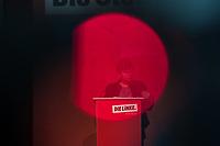 """Landesparteitag des Berliner Landesverband der Partei """"Die Linke."""" am  Samstag den 23. November 2019.<br /> Im Bild: Katrin Lompscher, Senatorin fuer Stadtentwicklung und Wohnen.<br /> 23.11.2019, Berlin<br /> Copyright: Christian-Ditsch.de<br /> [Inhaltsveraendernde Manipulation des Fotos nur nach ausdruecklicher Genehmigung des Fotografen. Vereinbarungen ueber Abtretung von Persoenlichkeitsrechten/Model Release der abgebildeten Person/Personen liegen nicht vor. NO MODEL RELEASE! Nur fuer Redaktionelle Zwecke. Don't publish without copyright Christian-Ditsch.de, Veroeffentlichung nur mit Fotografennennung, sowie gegen Honorar, MwSt. und Beleg. Konto: I N G - D i B a, IBAN DE58500105175400192269, BIC INGDDEFFXXX, Kontakt: post@christian-ditsch.de<br /> Bei der Bearbeitung der Dateiinformationen darf die Urheberkennzeichnung in den EXIF- und  IPTC-Daten nicht entfernt werden, diese sind in digitalen Medien nach §95c UrhG rechtlich geschuetzt. Der Urhebervermerk wird gemaess §13 UrhG verlangt.]"""