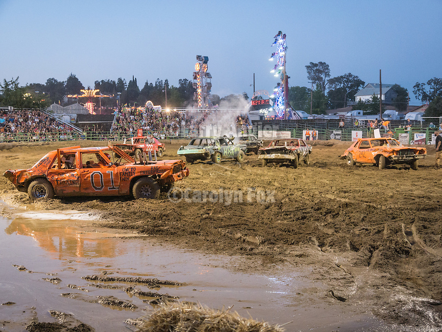Day 4 of the Amador County Fair, Plymouth, Calif.<br /> Destruction Derby