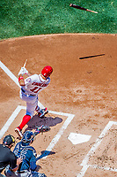 9 July 2017: Washington Nationals first baseman Ryan Zimmerman cracks his bat during a game against the Atlanta Braves at Nationals Park in Washington, DC. The Nationals defeated the Atlanta Braves to split their 4-game series. Mandatory Credit: Ed Wolfstein Photo *** RAW (NEF) Image File Available ***