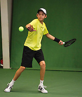 01-12-13,Netherlands, Almere,  National Tennis Center, Tennis, Winter Youth Circuit, Amadatus Admiraal     <br /> Photo: Henk Koster