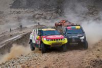 7th January 2021; Riyadh to Buraydah, Saudi Arabia; Dakar Rally, stage 5;  #361 Lu Binglong (chn), Ma Wenke (chn), Baic, Baic ORV, drives side by side during the 5th stage of the Dakar 2021 between Riyadh and Al Qaisumah, in Saudi Arabia on January 7, 2021