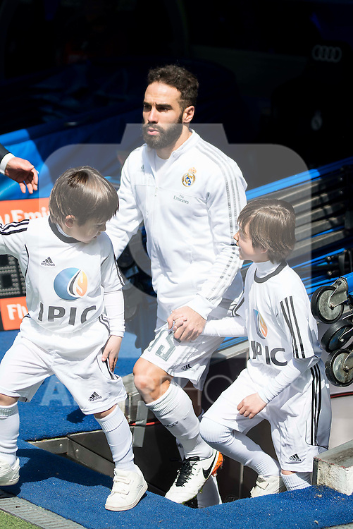 Real Madrid's Daniel Carvajal during La Liga match. April 09, 2016. (ALTERPHOTOS/Borja B.Hojas)