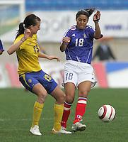 MAR 15, 2006: Faro, Portugal:  Lotta Schelin, Hoda Lattaf