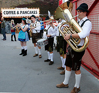 Brentford FC bring an Oktoberfest flavour to tonight's match during the Sky Bet Championship match between Brentford and Derby County at Griffin Park, London, England on 26 September 2017. Photo by Carlton Myrie / PRiME Media Images.