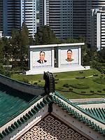 Blick von Studienhalle des Volkes, Pyongyang, Nordkorea, Asien<br /> View from people's study hall, Pyongyang,, North Korea, Asia