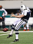Dallas Cowboys punter Mat McBriar (1) in action during the Thanksgiving Day game between the Miami Dolphins and the Dallas Cowboys at the Cowboys Stadium in Arlington, Texas. Dallas defeats Miami 20 to 19...