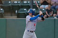 Stockton Ports catcher Jonah Heim (13) at bat during a California League game against the Visalia Rawhide at Visalia Recreation Ballpark on May 8, 2018 in Visalia, California. Stockton defeated Visalia 6-2. (Zachary Lucy/Four Seam Images)
