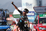 Romain Bardet (FRA) Team DSM wins Stage 14 of La Vuelta d'Espana 2021, running 165.7km from Don Benito to Pico Villuercas, Spain. 28th August 2021.     <br /> Picture: Luis Angel Gomez/Photogomezsport   Cyclefile<br /> <br /> All photos usage must carry mandatory copyright credit (© Cyclefile   Luis Angel Gomez/Photogomezsport)