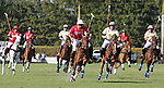 WELLINGTON, FL - FEBRUARY 12:  Julian de Lusarreta #4 charges down the field to take control of the ball in Sunday's Feature Match vs Coca Cola at the International Polo Club, Palm Beach on February 12, 2017 in Wellington, Florida. (Photo by Liz Lamont/Eclipse Sportswire/Getty Images)