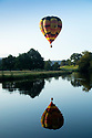 01/09/19<br /> <br /> Hot air balloons fly over the river Derwent at dawn this morning as part of the Chatsworth Country Fair in Derbyshire. Strong winds over last three days grounded the balloons on Friday and Saturday. <br /> <br /> All Rights Reserved: F Stop Press Ltd. +44 (0)7765 242650 www.fstoppress.com