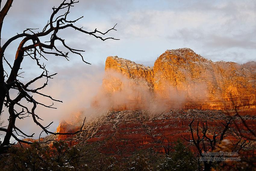 Light and Snow on Lee Mountain, near Sedona, Arizona