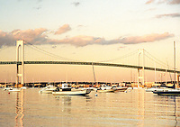 Jamestown Harbor at sunset